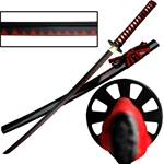 Samurai Warrior Carbon Steel Black Blade Katana Sword