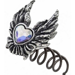 Heart of an Angel Hair Screw Pewter Alchemy HSC2