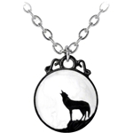 Wolf Pendant Pewter Alchemy P252