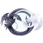 Yin and Yang Dragon Mirror