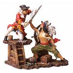 Pirates and Navy Fighting Statue