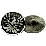 Pewter Phoenix Button 107.0667