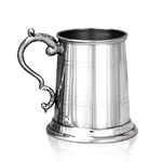 Georgian Handle Half Pint with Straight Two Lines Pewter Tankard HP003
