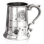 21st Birthday Key Rolled Pewter Tankard One Pint TS319