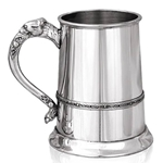 Celtic Band And Celtic Lion Handle One Pint Pewter Tankard IP070