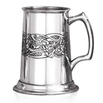 Heavy Gauge Glastonberry One Pint Pewter Tankard