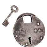 Round Medieval Dungeon Padlock - Medium 802184