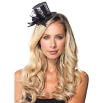 Glitter and Sequin Striped Mini Clip-on Top Hat 28-A1071