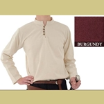 Heavy Cotton Shirt, Burgundy, Extra Large
