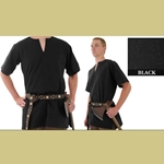 Medieval Tunic, Black, Extra Extra Large