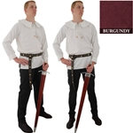 Renaissance Cotton Shirt Round Collar Burgandy XL 29-GB3652