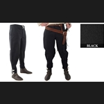 Medieval Ankle Laced Pants, Black, Extra Extra Large