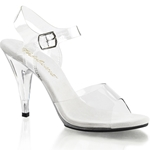 Clear Ankle Strap Four Inch Heel Sandals