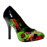 Psychobilly Monster Print Pumps 34-3161