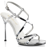 Mirror Criss Cross Ankle Strap Sandal