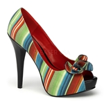 Lolita Striped Pumps