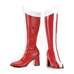 Red Zip-Up Gogo Boots