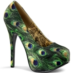 Teeze Basic Peacock Platform Pumps 34-4306