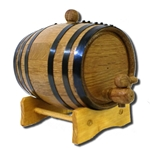 1 Liter Oak Barrel with Black Steel Hoops 37-3000