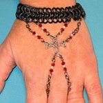 Celtic Cross Chain Mail Bracelet 37-4001