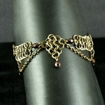 Antique Brass Chainmail Anklet 37-4044