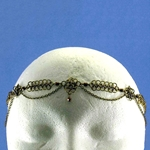 Antique Brass Chainmail Headband 37-4118