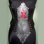 The Rose Hard Leather Corset 39-460