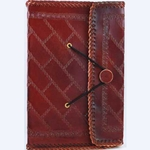 Southwest Side Stitched Leather Blank Book Large 45-BBBCSOU