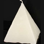White Pyramid Candle 45-CPSHS