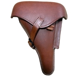 P08 Luger Hardshell Holster Brown - Collector Grade