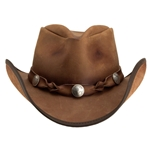 Comstock Leather Hat, Leather Cowboy Hat