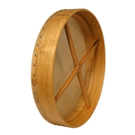 "Bodhran 18""x3.5"", Fix, Mulberry, Cross  BTGTM"