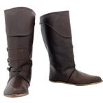 Medieval Mid Calf Leather Boots Size 11-1/2