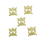 Medieval Crown Belt Studs - Conchos - Set of 5