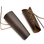 Arm Bracers - Brown Leather