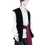 Black Pirate Vest - Cotton Canvas