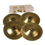 Student Belly Dance Zills - Finger Cymbals, 2-inch, Set of 4