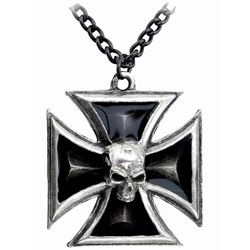 Black Knight's Cross Pendant Pewter Alchemy P617