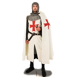 Knights Templar Hooded Crusader Cape