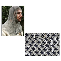 Chainmail Coif Flat Ring Wedge Riveted Code 2 AB2550