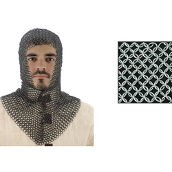 Chainmail Coif With V-Shape Face AB2807
