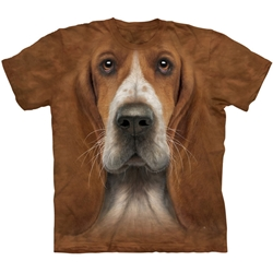 Basset Hound Head Adult T-Shirt 43-1036070