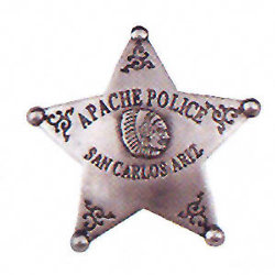 Apache Police Western Badge OH3027
