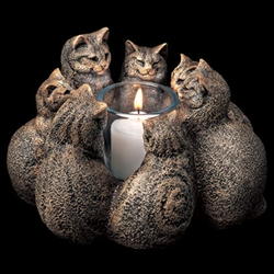 Circle of Cats Candlelamp